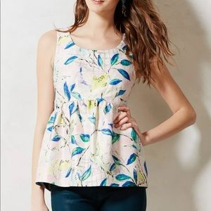 Anthropologie Leifsdottir Brocade Peplum Top
